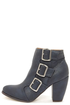 Michael Antonio Mandrake Navy High Heel Booties