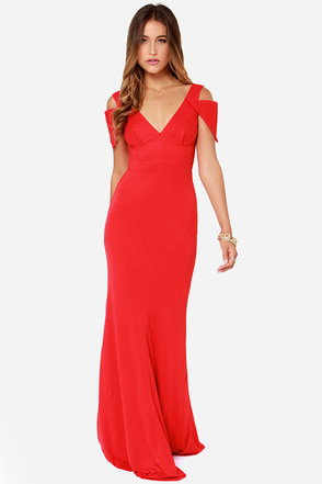 Bariano Gina Red Maxi Dress
