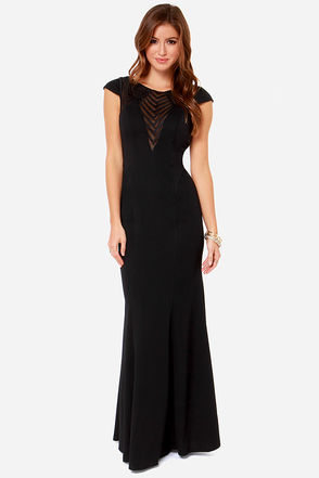 Bariano Mariabella Black Maxi Dress