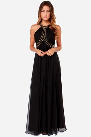 Bariano Alysha Black Maxi Dress