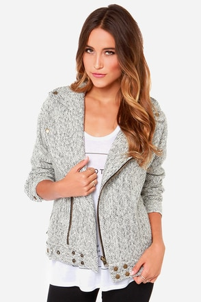 JOA Snow Patrol Ivory and Black Jacket at Lulus.com!