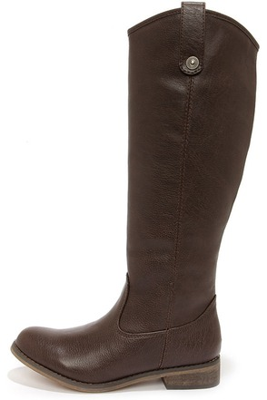 Rider 18 Brown Knee High Riding Boots