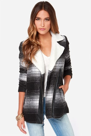 Jack by BB Dakota Aliso Black and Grey Coat
