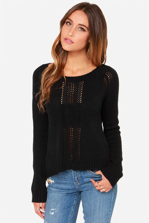 BB Dakota Lana Cropped Black Sweater