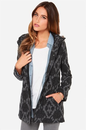 Jack by BB Dakota Rupert Black and Grey Coat