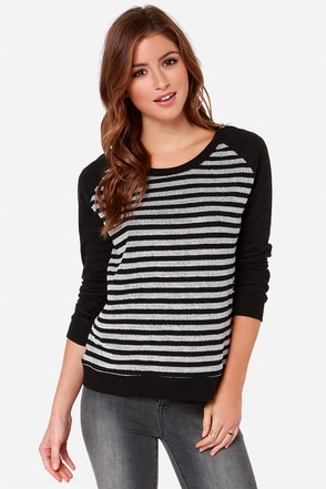 Jack by BB Dakota Liberty Black and Ivory Sweater