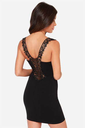 Heart Full of Soul Black Lace Dress