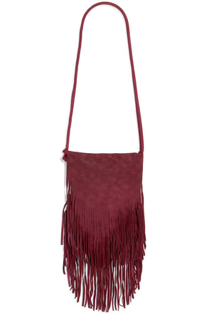 Fringe With Benefits Leather Burgundy Purse