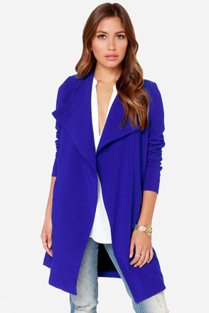 Aryn K Coat of Arms Royal Blue Coat