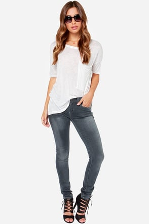 Blank NYC Skinny Classique Washed Grey Skinny Jeans at Lulus.com!
