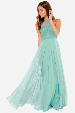 Bariano Serena Sage Green Maxi Dress