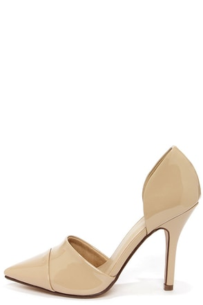 My Delicious Tamika Dark Beige Patent D'Orsay Pumps at Lulus.com!