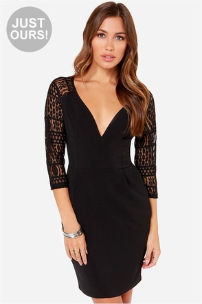 LULUS Exclusive Smooth Talker Black Lace Dress at Lulus.com!