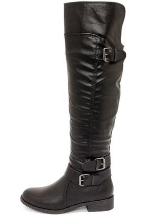 Madden Girl Chrysler Black Over the Knee Boots at Lulus.com!
