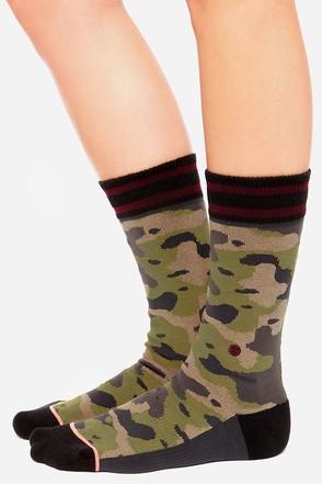 Stance Crosby Green Camo Print Socks