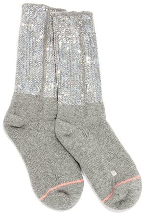 Stance Bglam Grey Sequin Socks