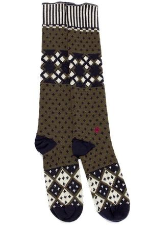 Stance Prescott Olive Green Print Socks