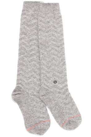 Stance Mount Blue Grey Chevron Socks