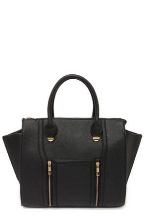 Wing-Woman Black Handbag