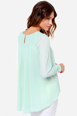 LULUS Exclusive Trade Secrets Mint Green Top