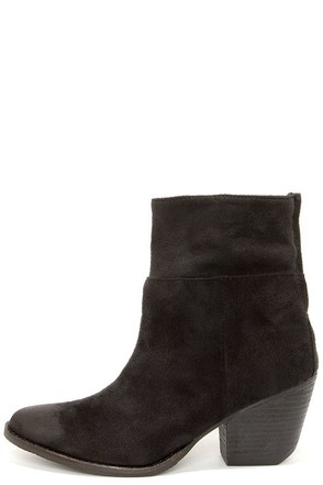 Coconuts True Black Slouchy Ankle Boots at Lulus.com!