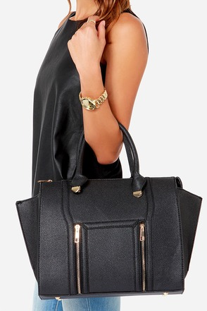 Wing-Woman Black Handbag at Lulus.com!