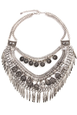 A Tribe of Her Own Silver Statement Necklace