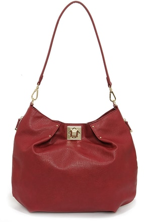 Big Buddha Lamont Burgundy Tote at Lulus.com!