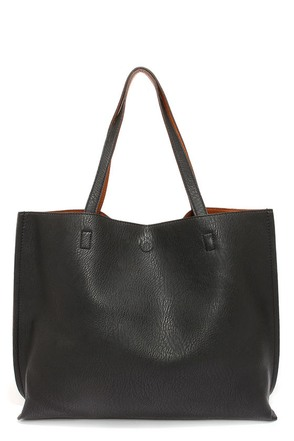 LULUS Exclusive Switch it Up Reversible Tan and Black Tote