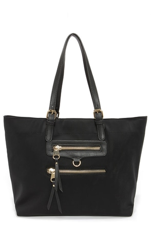 On the Scene Black Tote