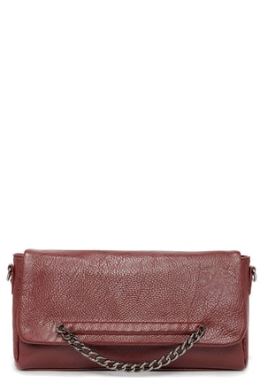 One in the Chain Burgundy Purse