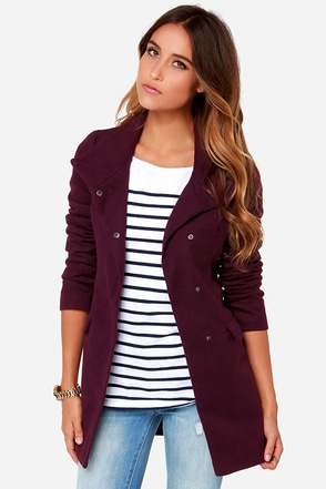 Jack By BB Dakota Cecil Purple Coat at Lulus.com!