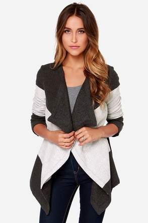 BB Dakota Katia Grey Wrap Coat at Lulus.com!