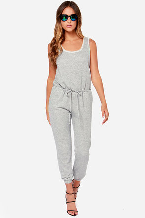 Terry Home Companion Heather Grey Jumpsuit