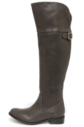 Rider 24 Grey Over the Knee Boots at Lulus.com!