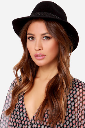 RVCA Rosy Fruits Black Fedora Hat at Lulus.com!