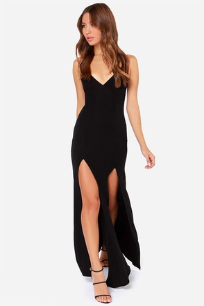Miss Behave Black Maxi Dress