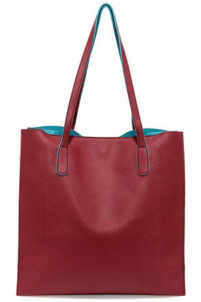 Game Changer Turquoise and Burgundy Tote