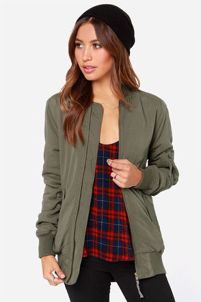 Obey Runaway Army Green Jacket at Lulus.com!