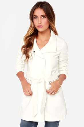 Jack By BB Dakota Cecil Ivory Coat at Lulus.com!