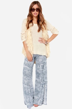 Billabong That's A Wrap Blue Print Pants at Lulus.com!