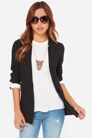 Hidden Ace Black Blazer at Lulus.com!
