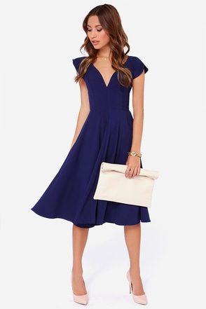 LULUS Exclusive Skirts So Good Royal Blue Midi Dress at Lulus.com!