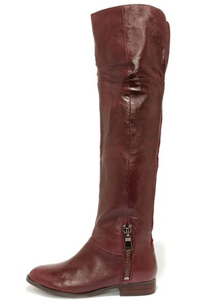Chinese Laundry Fawn Bordeux Leather Over the Knee Boots at Lulus.com!