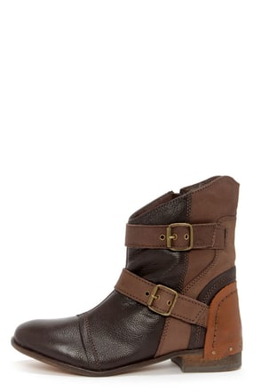 Naughty Monkey Short and Stout Chocolate Brown Leather Boots