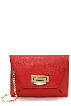 Prism A Moment Red Clutch at Lulus.com!