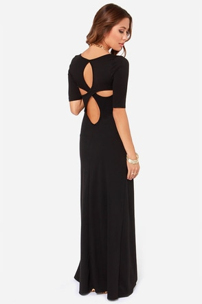LULUS Exclusive Back to Reality Black Maxi Dress