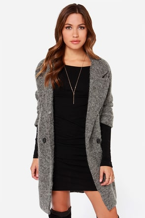 Partly Cloudy Oversized Grey Wool Coat at Lulus.com!