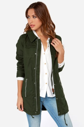 Rhythm Alpine Forest Green Parka at Lulus.com!