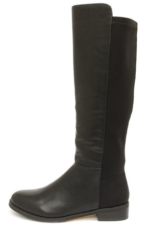 Very Volatile Bradford Black Knee High Boots at Lulus.com!
